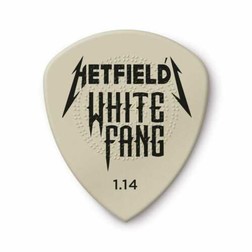 Dunlop Guitar PIcks White Fang Pick Tin 6 Picks 1.14mm James Hetfield
