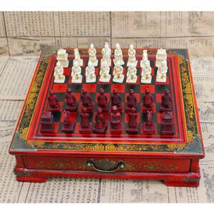 Chinois-Terracotta-Warriors-Jeu-d-039-echecs-Set-Cadeau-Amis-Famille-A