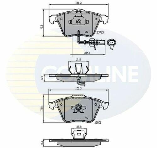 Front Brake Pads FOR AUDI A4 8E 3.0 4.2 04-/>08 Diesel Petrol 8EC 8ED B7 Comline