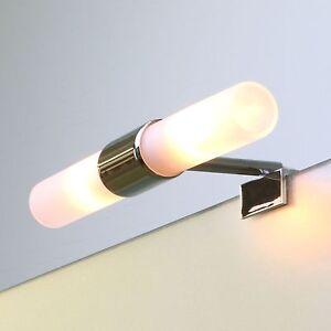 spiegelleuchte evita spiegellampe klemmleuchte spiegel beleuchtung 2x33w ebay. Black Bedroom Furniture Sets. Home Design Ideas