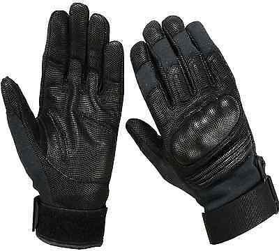 Tactical KEVLAR Combat Hard Knuckle Shooting Gloves Digital Leather-Black,Coyote