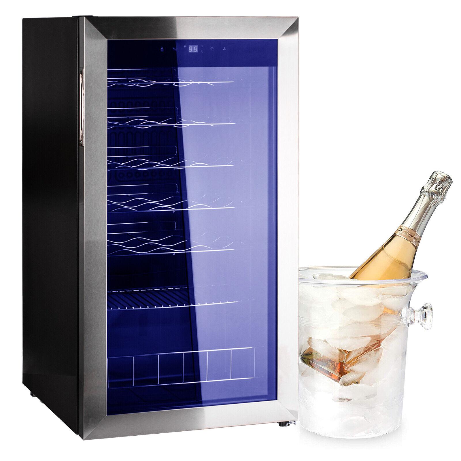 Wine Cooler Fridge 28 Bottle Black Refridgerator Beer Soda Bar Igloo For Sale Online Ebay