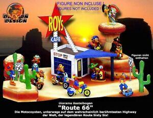Kinder-Raro-Diorama-Aleman-Para-Set-Coyotes-Moto-Route-66-Nuevo-De-Construir