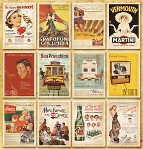 Postcard-Set-Vintage-Postcards-Advertising-Album-Poster-Old-Greeting-Post-Cards