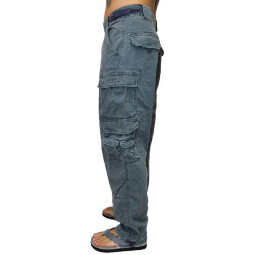 JET Lag Uomo Pantaloni 007 jeans tasche laterali cargo pant Uomini Cargo s-5xl