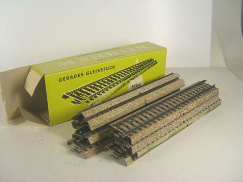 gerade Gleise Märklin HO Metallgleis 5106 i grünen Karton 10 Stck #E gebr.