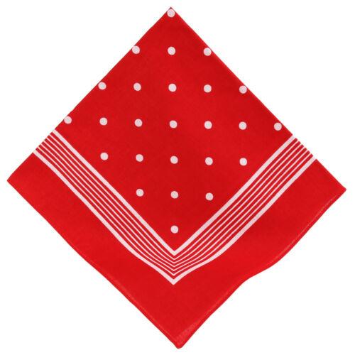 marine und dunkelblau Nickituch mit Punktemuster 55 x 55 cm rot