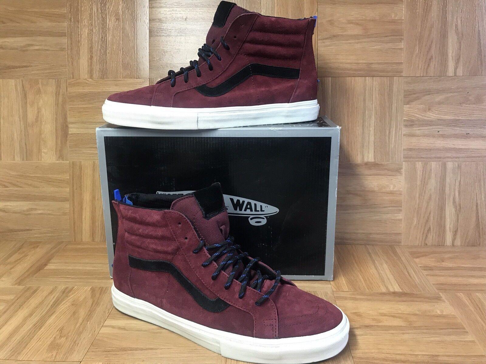 RARE� VANS Sk8-Hi Vault Zip LX Premier Suede Dark Shadow 13 Skateboarding Shoes