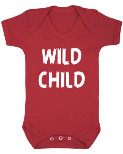 New Born Baby Clothes Baby Shower Wild Child Baby Vest B-Shirts Christening