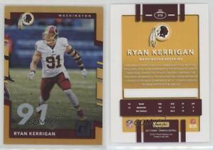 Cheap 2017 Panini Donruss Jersey Number #215 Ryan Kerrigan Washington  for sale