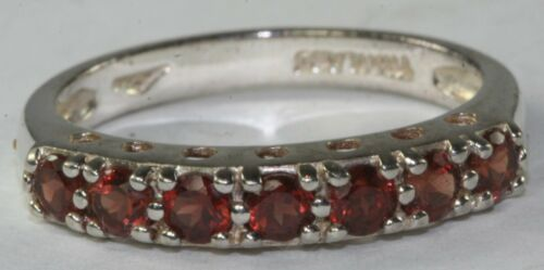 BNWOT STERLING SILVER .70 CARAT GARNET ANNIVERSARY BAND RING SIZE 8.25