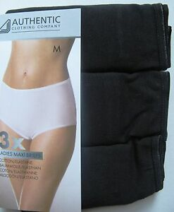 3-ER-SET-MAXI-BRIEFS-SLIPS-AUTHENTIC-SLIP-SCHWARZ-95-BAUMWOLLE-GR-M-NEU