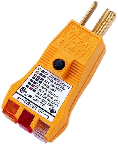 IDEAL 61-051 E-Z Check Plus GFCI Circuit Tester
