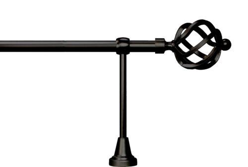 Schmiede Optik Gardinenstange 16 mm Eisen Schwarz Art. G1615
