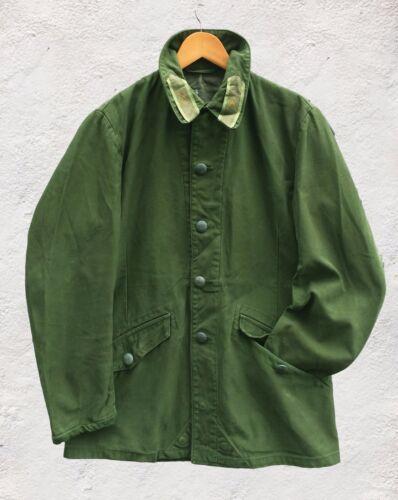 Green Vintage Swedish M59 60s Olive Chore Worker Work Mod Military Jacket
