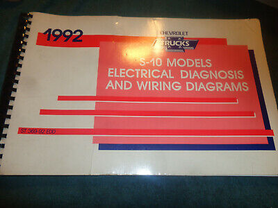 1992 CHEVROLET S10 & S10 BLAZER ELECTRICAL DIAGNOSIS AND ...