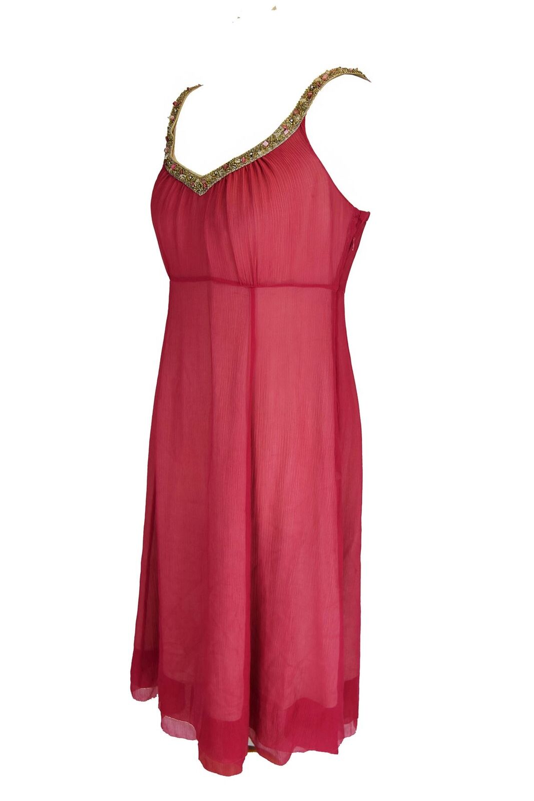 LK BENNETT Pink 100% 100% 100% Silk Long Dress, US 6 fd6e9b