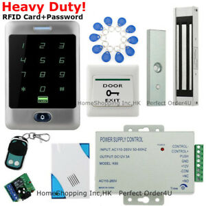 Image is loading Waterproof-RFID-Card-Password-Door-Access-Control-System-  sc 1 st  eBay & Waterproof RFID Card+Password Door Access Control System+Magnetic ...