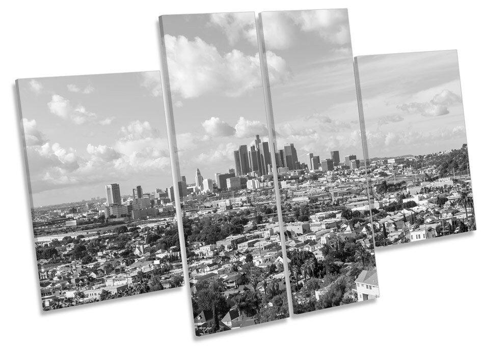 Los Angeles horizonte de la de ciudad LONA pared arte Marco de la Caja de impresión de panel de múltiples 5e5b1b