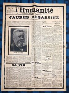 La-Une-Du-Journal-L-humanite-1er-Aout-1914-Jaures-Assassine
