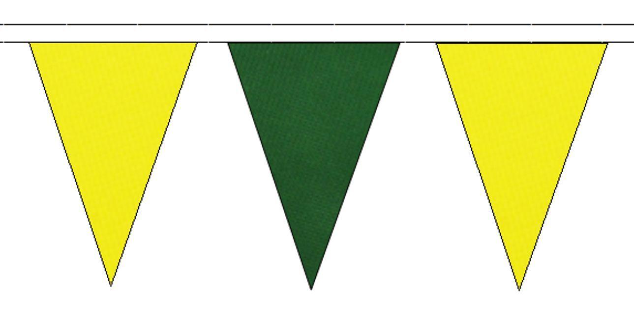 JAUNE & vert foncé avec triangulaire Banderole DRAPEAUX 20M avec foncé 48 drapeaux e39d25
