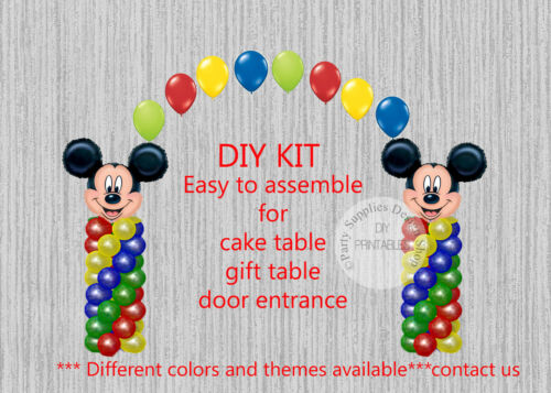 Mickey Mouse BALLOON ARCH with COLUMNS Birthday Party Decorations Clubhouse