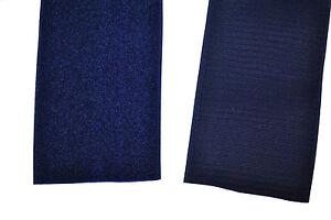 Klettband 100 mm blau je 1 m Klett und je 1 Meter Flauschband zum annähen