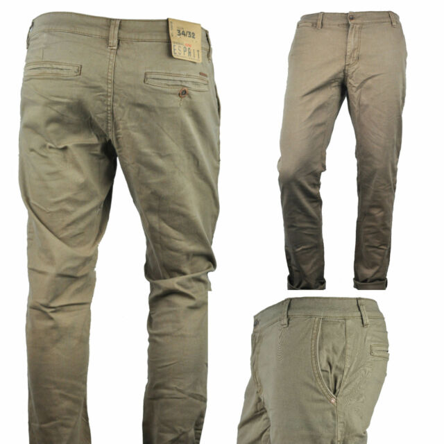 1000cdd597 NWT ESPRIT Modern Men's Casual Chino Pants Slim Stretch Fit for sale online