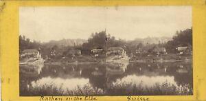 Suisse-Rathen-E-L-Elba-Foto-Stereo-A-C-Vintage-Albumina-Ca-1865