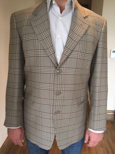 Men's Neiman Marcus Mani Plaid Suit Jacket Size 42