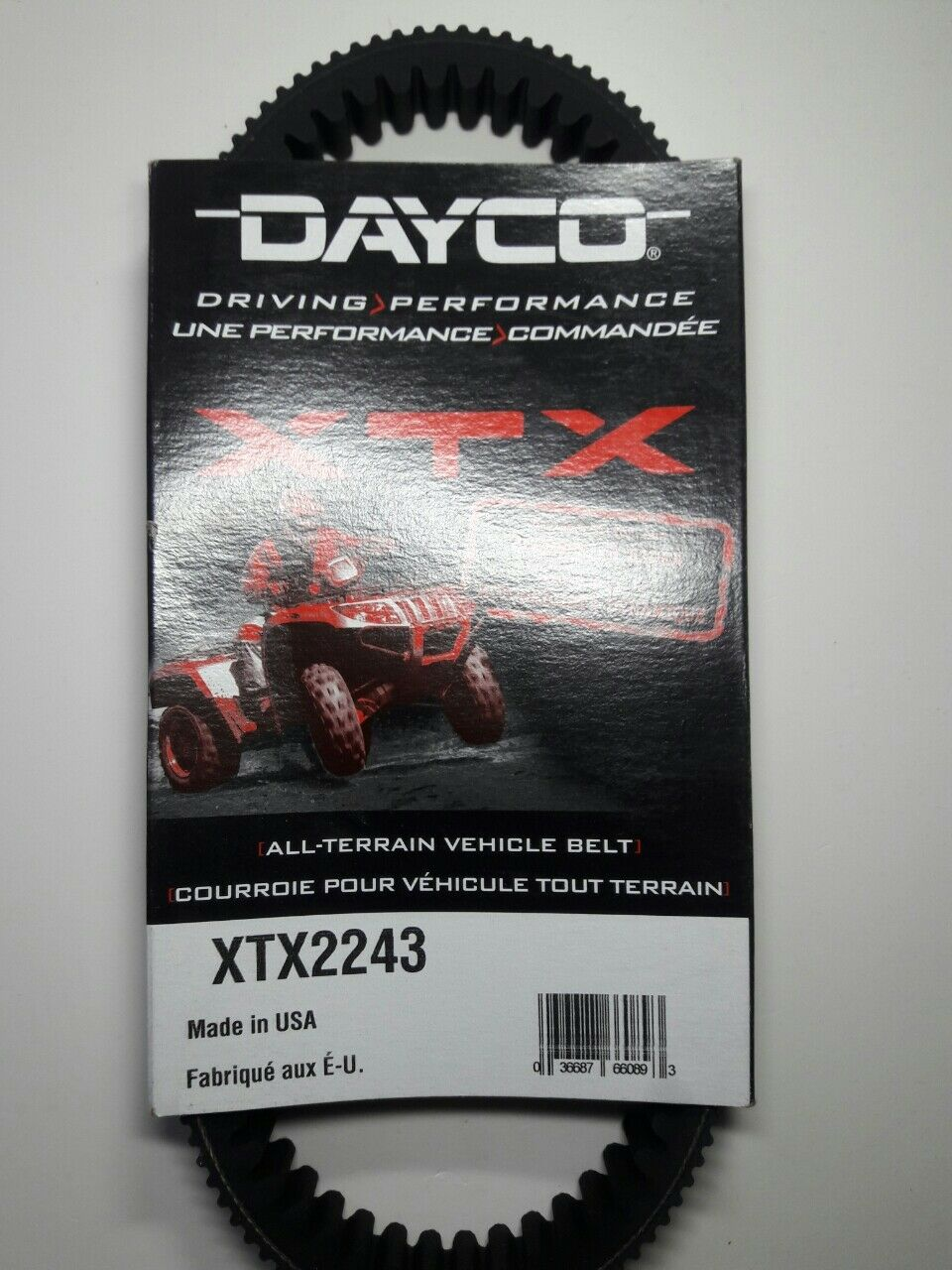 Replacement to Arctic Cat # 0823-228 Dayco XTX High Performance Drive Belt
