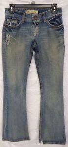 BKE-BUCKLE-Womens-CULTURE-DISTRESSED-Blue-Denim-Jeans-Size-27-x-33-5