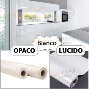 Dettagli su Carta Plastica Pellicola Adesiva Bianca Pvc mt 1x45 cm per  cassetti mobili