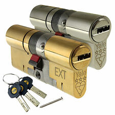 Yale uPVC Door Lock Platinum Euro Cylinder TS007 3* Star Anti Snap High Security