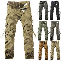 Neu Herren Baumwolle Cargo Hose Pants Militär Freizeit lang Army Vintage Hosen