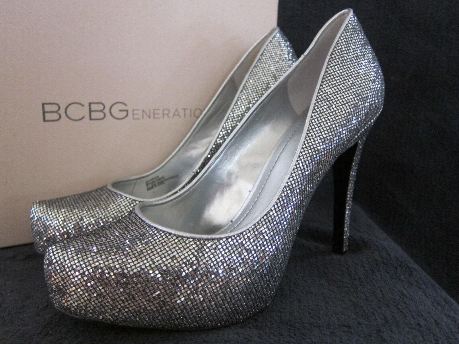 BCBGeneration BCBG BCBG BCBGeneration Parade Silber Glitter Heels Pumps schuhe US 9.5 M EUR 39.5 NWB c609cd