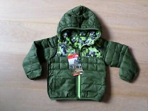 03a48bd84 Details about New The North Face Kids Boy Thermoball Reversible Hoodie  Jacket Green Toddler 2T