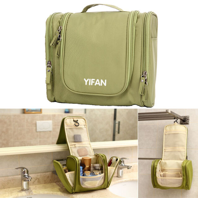 Travel Toiletry Wash Cosmetic Bag Makeup Storage Case Hanging Grooming Excellent