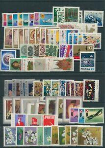 Pologne-Pologne-Lot-de-Vintage-1971-Neuf-MNH-Pas-Complet-Plus-Boutique