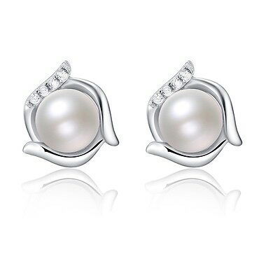 Perlen Ohrstecker Ohrringe 925er Sterling Silber Süßwasser Zuchtperle Ohrschmuck