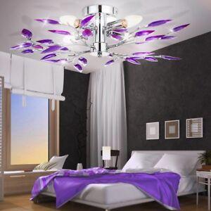 Plafonnier-chrome-eclairage-lampe-de-Plafond-Lumiere-Luminaire-lampe