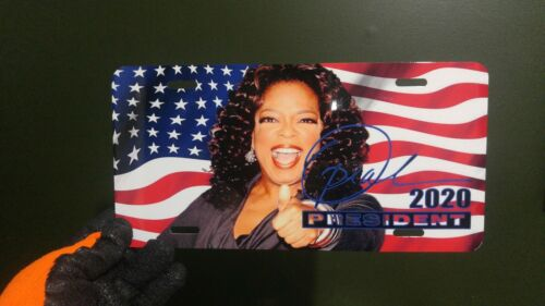 Oprah Winfrey for President 2020 Vanity Metal License Plate Election Campaign