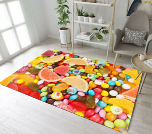 Details About Sweets Candy Area Rugs Living Room Floor Mat Bedroom Rug Kids Play Home Carpet