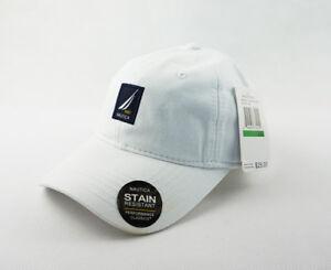 950fd092425ef Rare Unisex Nautica Hat 100% Cotton Baseball Golf Ball Cap New White ...