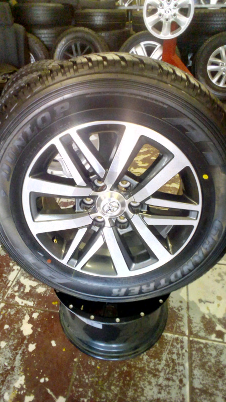 TOYOTA FORTUNER GD6 RIM /TYRE 18 INCH FOR SPARE WHEEL.