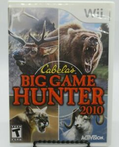 CABELA-039-S-BIG-GAME-HUNTER-2010-GAME-FOR-NINTENDO-Wii-GAME-DISC-CASE-amp-MANUAL