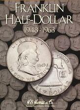 Harris Franklin Half Dollar Folder 1948-1963 Coin Storage Album Display H.E