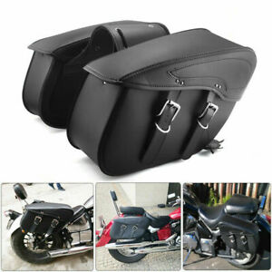 PU-Leather-Motorcycle-Saddlebag-Luggage-Saddle-Bags-For-Touring-Sportster-Dyna