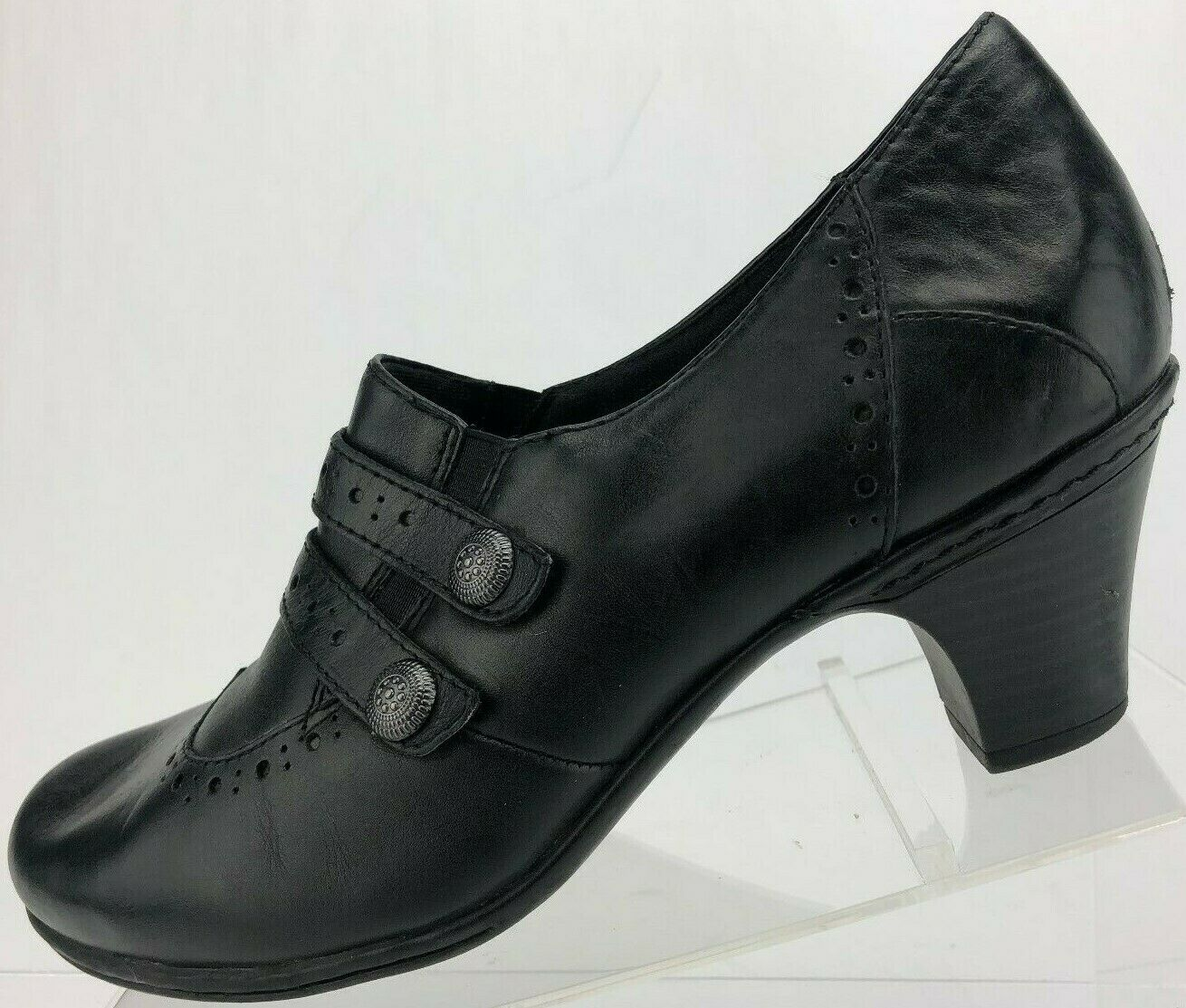 Cobb Hill by New Balance Pumps Booties Black Classic Leather Heels Womens 9.5 M