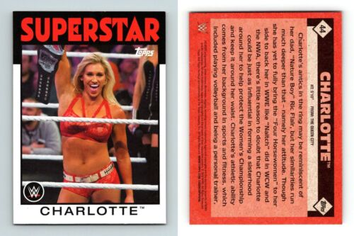 Charlotte #44 WWE Heritage 2016 TOPPS TRADING CARD